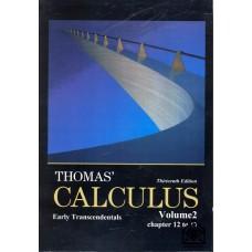 کتاب حساب دیفرانسیل توماس 13 ( افست ) CALCULUS جلد 2